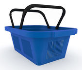 Empty plastic shopping basket — Stockfoto