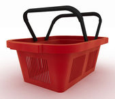 Empty plastic shopping basket — Foto Stock