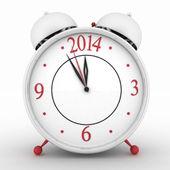 2014 jaar op alarm klok. — Stockfoto