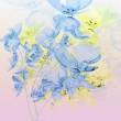 Bouquet of blue orchids on pink background — Stock Photo #37758805