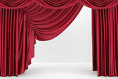 Red theater curtain, background — Stock Photo