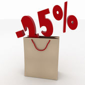 Sale concept shopping bag design over — Stock Photo