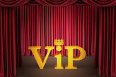 VIP on stage in a spotlight lighting — Stock Photo