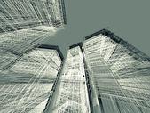 3d render abstract moderne architectuur achtergrond — Stockfoto