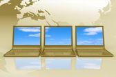 Concepto de internet de negocios globales — Foto de Stock