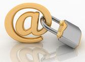 Símbolo de e-mail con la cerradura. concepto de seguridad de internet. — Foto de Stock