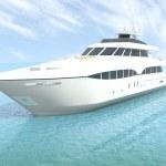 Luxury white cruise yacht — Stock Photo #9695341