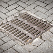 Stock Photo: Sewer in street