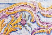 Decoración de la pared de azulejos de cerámica de estilo vintage español — Foto de Stock