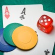 Poker aces — Photo