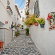 Canillas de Albaida in Spain, a traditional white town — Stock Photo