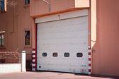 Closed garage gate — Stock Photo