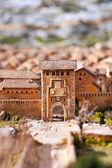 Panoramic view of Xativa, Valencia, Spain. Medieval representation. — Stock Photo