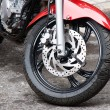 Motorbike wheel — Stock Photo