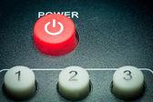Remote control power button — Stock Photo