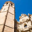 Foto Stock: Miguelete, bell tower of ValenciCathedral in Spain,