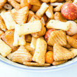 Savory snacks — Stock Photo