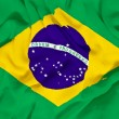 Brazil flag towel — Stockfoto