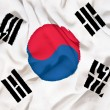 South Korea flag towel — Stock Photo