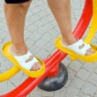Exercise equipment in public park — Stock Photo
