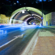Car lights trail in tunnel in Malaga, Spain — Foto de stock #36180077