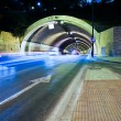 Car lights trail in tunnel in Malaga, Spain — Zdjęcie stockowe #36180077