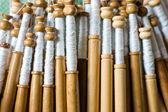 Bobbin lace, traditional handicrafts — Stock Photo