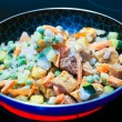 Frozen vegetables in a pan — Stock Photo