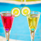 Alcoholic cocktails composition — Foto Stock