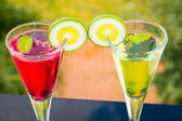 Alcoholic cocktails composition — Stockfoto