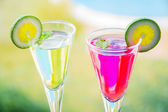 Alcoholic cocktails composition — Stock Photo