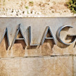 Stock Photo: Malaga logo in a street, Spain