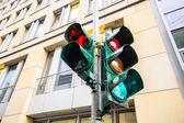 Traffic light in East Berlin, Germany — Stock Photo