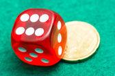 红色骰子 — 图库照片