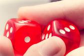 Red dice — Stock Photo