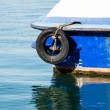 Old Tire on the Boat — Stockfoto #39626121