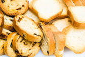 Pile of mini toasts — Stock Photo