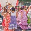Stock Photo: TORREMOLINOS, SPAIN - SEPTEMBER 23: Pilgrims participate in traditional Romeria