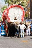 TORREMOLINOS, SPAIN - SEPTEMBER 23: Pilgrims participate in the traditional Romeria — Stockfoto
