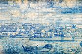 Vintage portuguese tiles — Stock Photo
