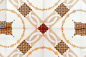 Old spanish ceramic tiles wall decoration — Stockfoto