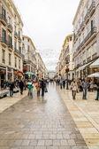 MALAGA, SPAIN - FEBRUARY 08: Larios Street on February 08, 2014 — Stock Photo