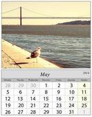 Calendar May 2014. Lisbon, Portugal. — Stock Photo