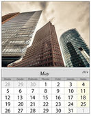 Calendar May 2014. Berlin, Germnay. — Foto Stock