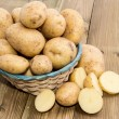 Basket with fresh Potatoes — Stock Photo #12101928