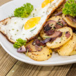 Royalty-Free Stock Photo: Plate with fried Potatoes and Egg