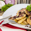 Royalty-Free Stock Photo: Fried Potatoes with blurred ingredients