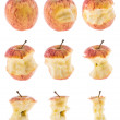 Apples isolated on white background — Stock Photo