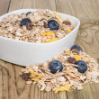 Mixed Muesli with Blueberries - Stock Photo