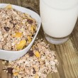 Royalty-Free Stock Photo: Mixed Muesli with a glass of Milk